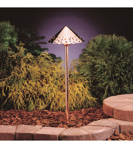 Kichler 15843CO Hammered Roof 12V 4 watt Copper Landscape 12V LED Path/Spread in 3000K photo