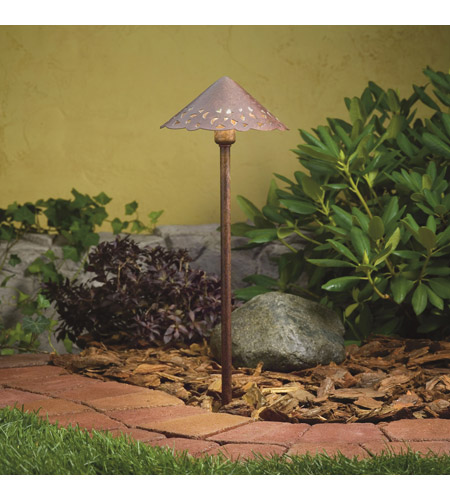 Kichler Lighting LED Hammered Roof Path Landscape 12V LED Path/Spread in Textured Tannery Bronze 15843TZT photo