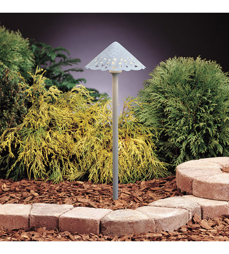 Kichler Lighting LED Hammered Roof Path Landscape 12V LED Path/Spread in Verdigris 15843VG photo