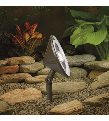Kichler Lighting Outdoor LED 3 Light Landscape 12V LED Wall Wash in Textured Architectural Bronze 15861AZT