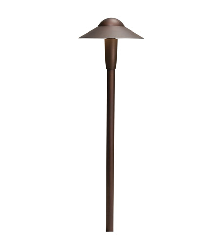 Kichler Lighting 6in LED Dome Path Light Landscape 12V LED Path/Spread in Textured Architectural Bronze 15870AZT