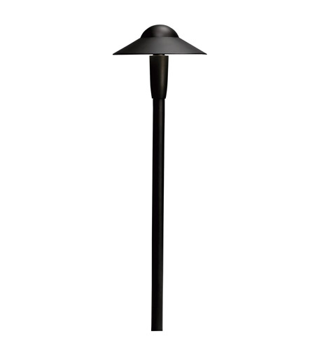 Kichler Lighting 6in LED Dome Path Light Landscape 12V LED Path/Spread in Textured Black 15870BKT