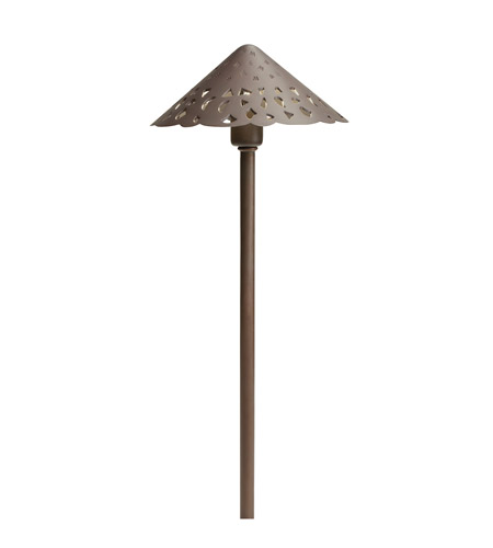 Kichler Lighting LED Cast Brass Hammered Roof Landscape 12V LED Path/Spread in Bronzed Brass 15871BBR