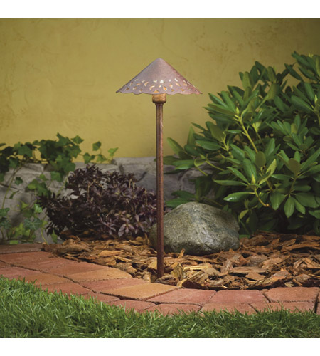 Kichler Hammered Roof Landscape 12V LED Path/Spread in Textured Tannery Bronze 15871TZT27 photo