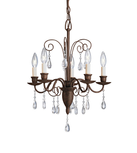 Kichler Lighting Barcelona 5 Light Chandelier in Tannery Bronze 1631TZ photo