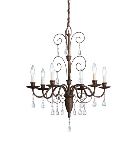 Kichler Lighting Barcelona 6 Light Chandelier in Tannery Bronze 1632TZ photo