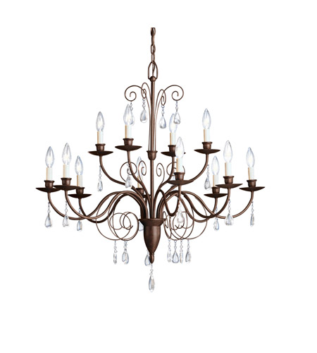 Kichler Lighting Barcelona 12 Light Chandelier in Tannery Bronze 1633TZ photo