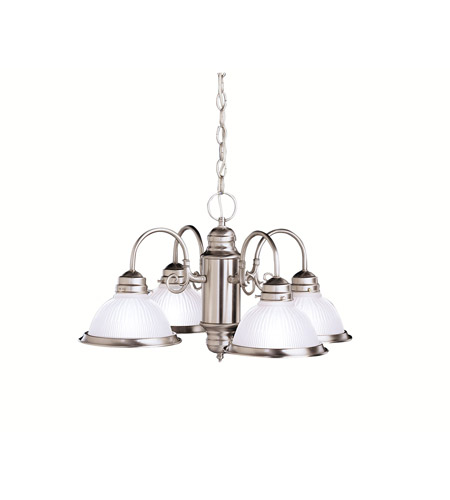 Kichler Lighting Cape May 4 Light Chandelier in Brushed Nickel 1648NI