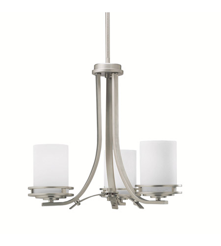 Kichler Lighting Hendrik 3 Light Chandelier in Brushed Nickel 1671NI photo