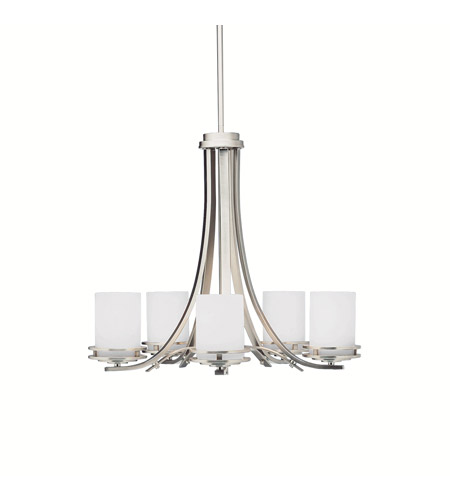Kichler Lighting Hendrik 5 Light Chandelier in Brushed Nickel 1672NI photo