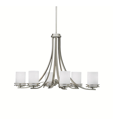 Kichler 1673NI Hendrik 6 Light 18 inch Brushed Nickel Chandelier Ceiling Light photo