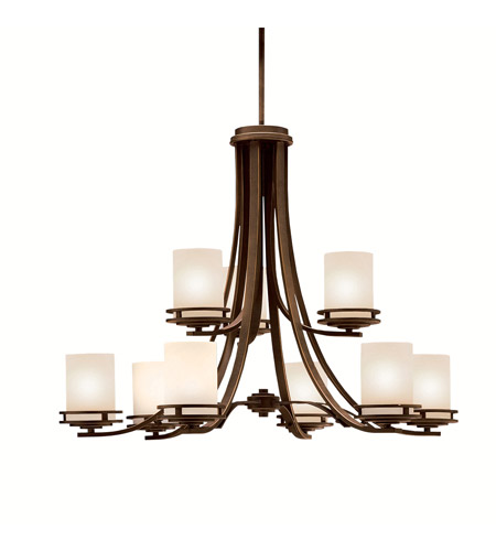 kichler 1674oz hendrik 9 light 33 inch olde bronze chandelier