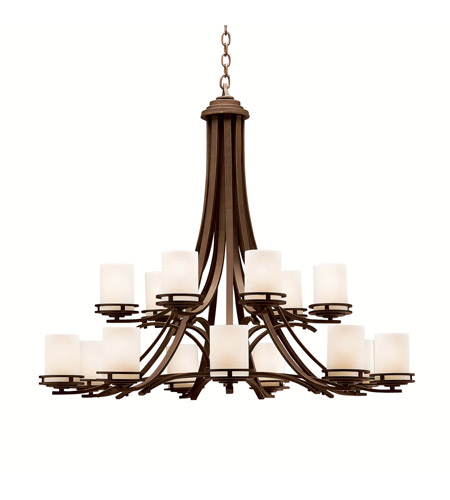 Kichler Lighting Hendrik 15 Light Chandelier in Olde Bronze 1675OZ photo