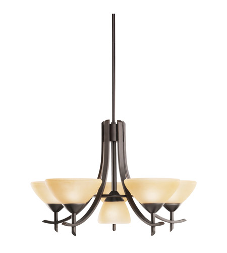 Kichler Lighting Olympia 6 Light Chandelier in Olde Bronze 1676OZ photo