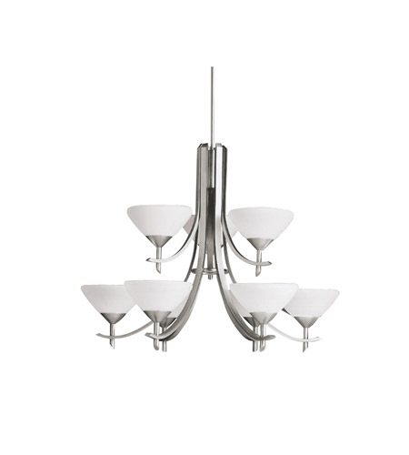Kichler Lighting Olympia 9 Light Chandelier in Antique Pewter 1680AP