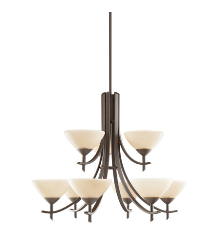 Kichler Lighting Olympia 9 Light Chandelier in Olde Bronze 1680OZ