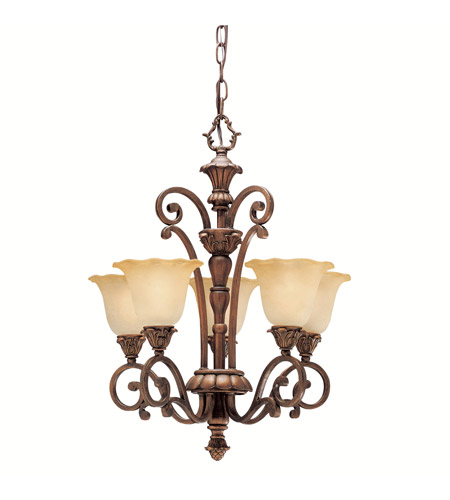Kichler Lighting Cheswick 5 Light Mini Chandelier in Parisian Bronze 1696PRZ photo