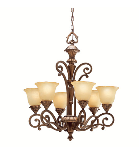 Kichler Lighting Cheswick 6 Light Chandelier in Parisian Bronze 1697PRZ photo
