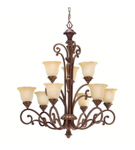 Kichler Lighting Cheswick 9 Light Chandelier in Parisian Bronze 1698PRZ