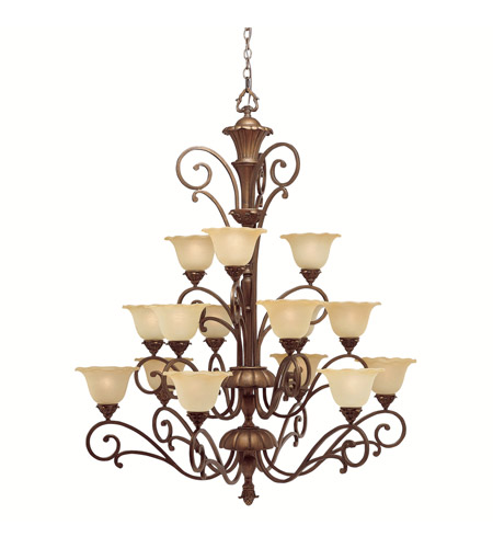 Kichler Lighting Cheswick 15 Light Chandelier in Parisian Bronze 1700PRZ photo