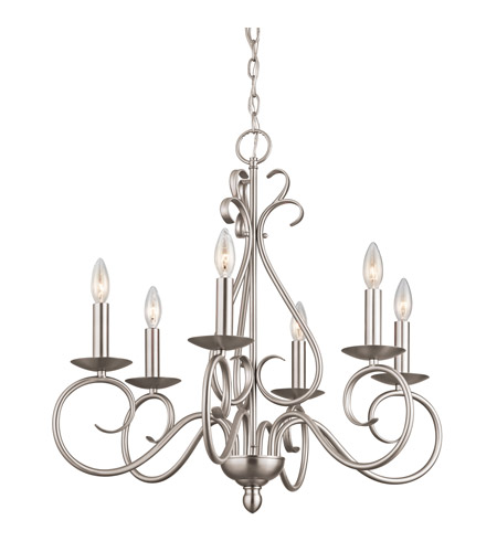 Kichler Lighting Norwich 6 Light Chandelier in Brushed Nickel 1713NI photo