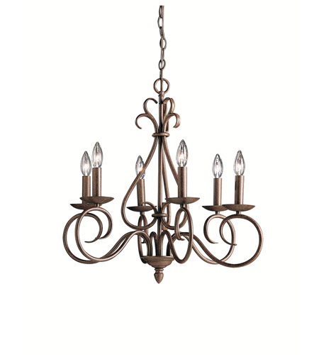Kichler 1713TZ Norwich 6 Light 25 inch Tannery Bronze Chandelier Ceiling Light photo