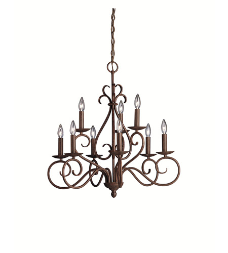 Kichler Lighting Norwich 9 Light Chandelier in Tannery Bronze 1714TZ