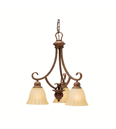 Kichler Lighting Northam 3 Light Chandelier in Lincoln Bronze 1723LBZ photo