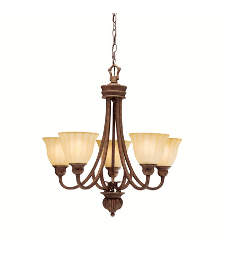Kichler Lighting Northam 5 Light Chandelier in Lincoln Bronze 1724LBZ photo