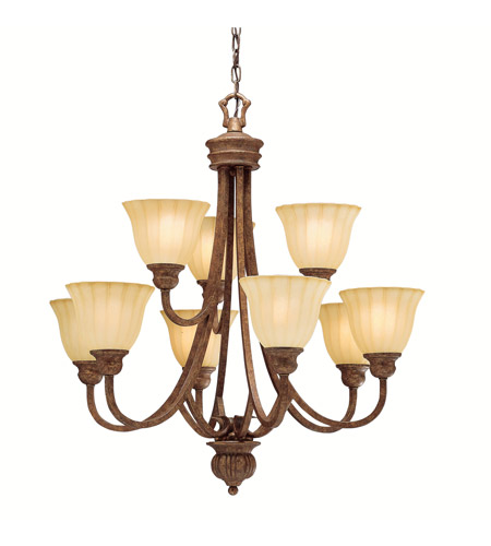 Kichler Lighting Northam 9 Light Chandelier in Lincoln Bronze 1725LBZ photo
