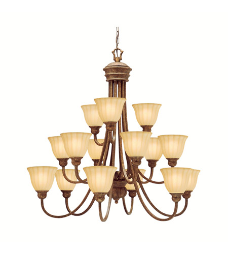 Kichler Lighting Northam 15 Light Chandelier in Lincoln Bronze 1726LBZ photo
