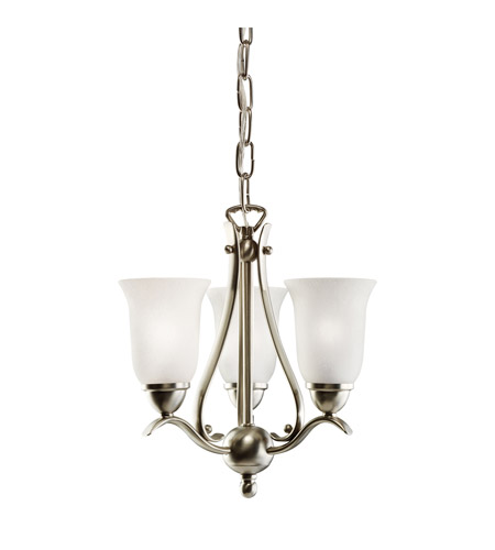 Kichler Lighting Dover 3 Light Mini Chandelier in Brushed Nickel 1731NI photo