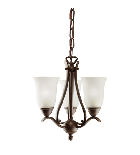 Kichler Lighting Dover 3 Light Mini Chandelier in Tannery Bronze 1731TZ photo