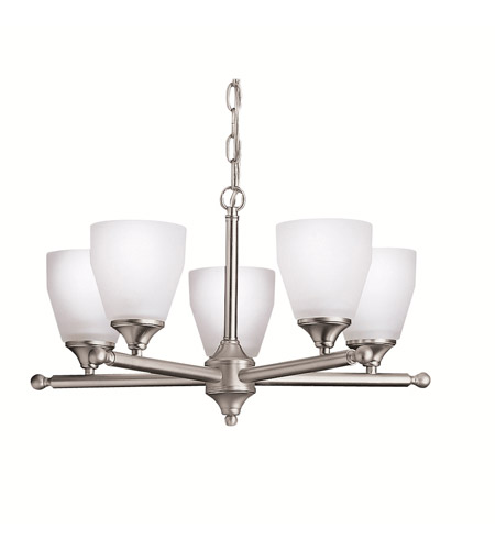 Kichler 1748NI Ansonia 5 Light 22 inch Brushed Nickel Chandelier Ceiling Light photo