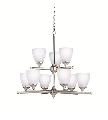 Kichler Lighting Ansonia 9 Light Chandelier in Brushed Nickel 1749NI photo