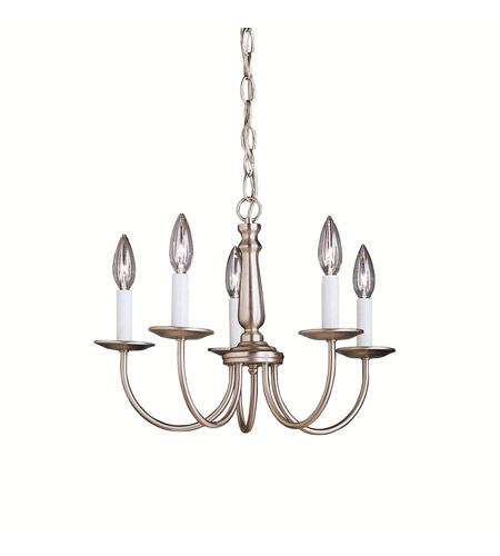 Kichler 1770NI Salem 5 Light 17 inch Brushed Nickel Chandelier Ceiling Light photo