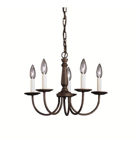 Kichler 1770TZ Salem 5 Light 17 inch Tannery Bronze Chandelier Ceiling Light photo