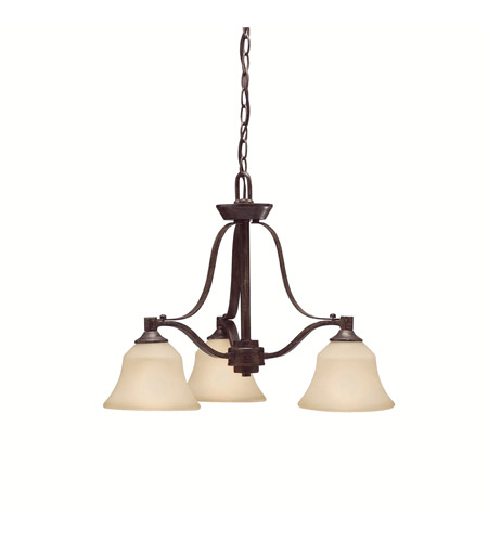 Kichler Lighting Langford 3 Light Chandelier in Canyon Slate 1781CST photo