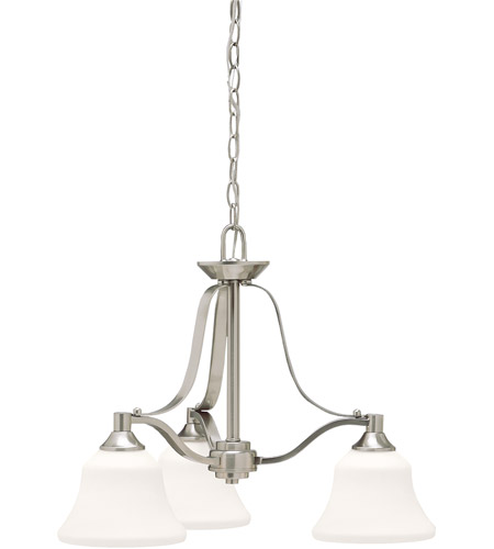 Kichler Lighting Langford 3 Light Chandelier in Brushed Nickel 1781NI