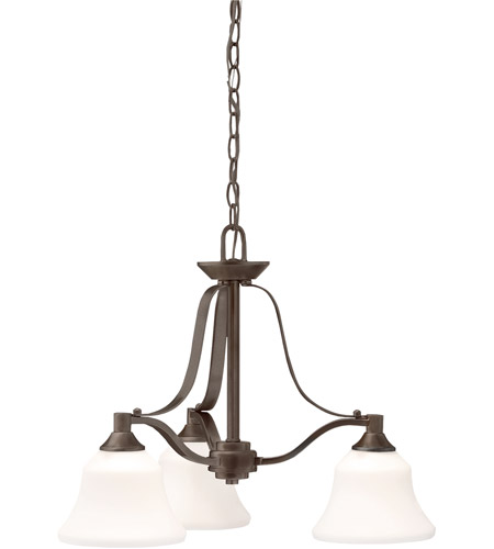 Kichler 1781OZ Langford 3 Light 22 inch Olde Bronze Chandelier Ceiling Light photo