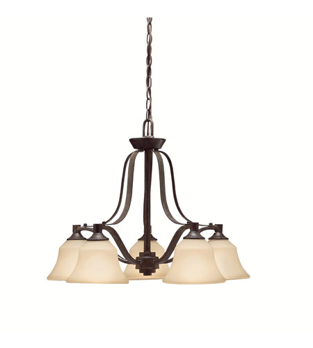 Kichler Lighting Langford 5 Light Chandelier in Canyon Slate 1782CST