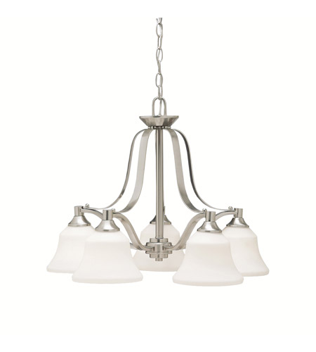 Kichler Lighting Langford 5 Light Chandelier in Brushed Nickel 1782NI