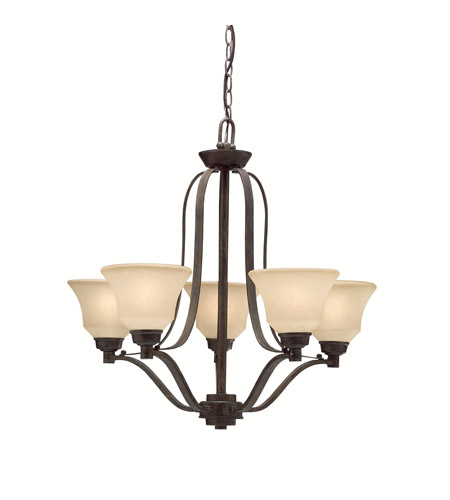 Kichler Lighting Langford 5 Light Chandelier in Canyon Slate 1783CST