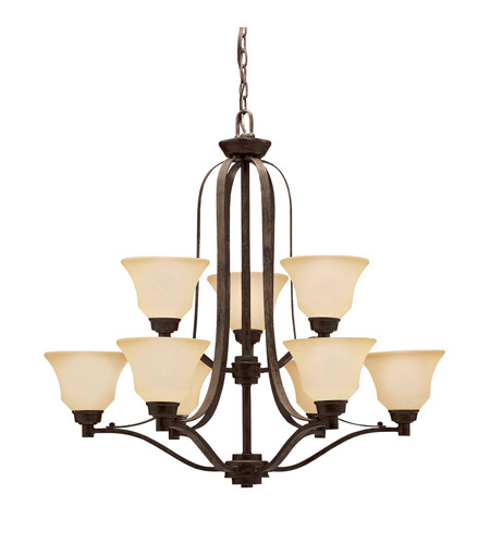 Kichler Lighting Langford 9 Light Chandelier in Canyon Slate 1784CST