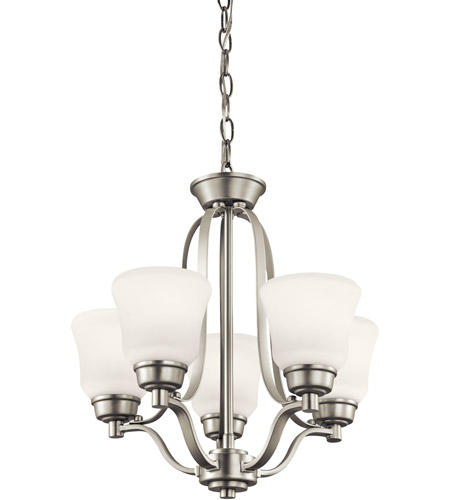Kichler Lighting Langford 5 Light Mini Chandelier in Brushed Nickel 1788NI