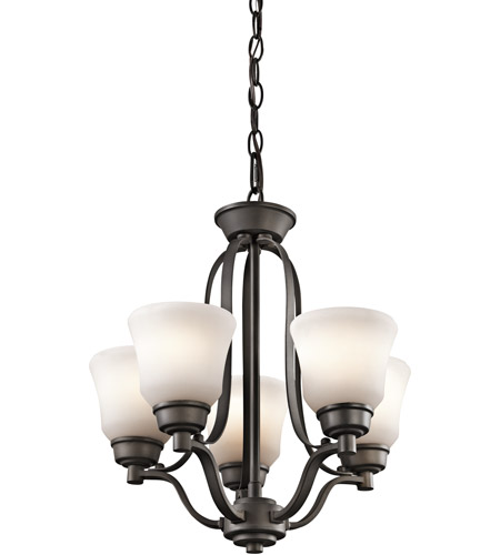 Kichler Lighting Langford 5 Light Mini Chandelier in Olde Bronze 1788OZ photo