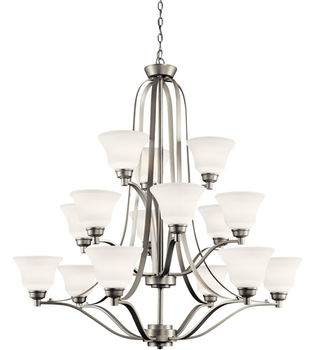 Kichler Lighting Langford 15 Light Chandelier in Brushed Nickel 1789NI