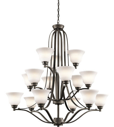 Kichler 1789OZ Langford 15 Light 42 inch Olde Bronze Chandelier Ceiling Light photo