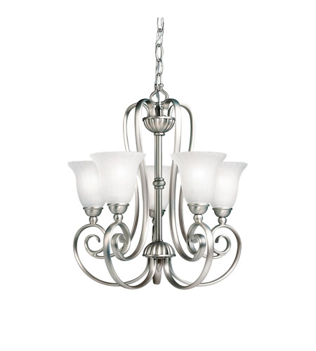 Kichler 1825NI Willowmore 5 Light 17 inch Brushed Nickel Mini Chandelier Ceiling Light photo