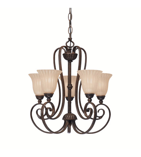 Kichler Lighting Willowmore 5 Light Mini Chandelier in Tannery Bronze 1825TZ